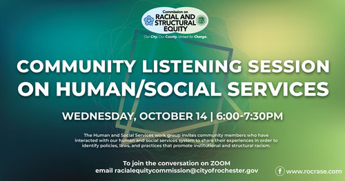 Community Listening Session on Human/Social Services Event Graphic