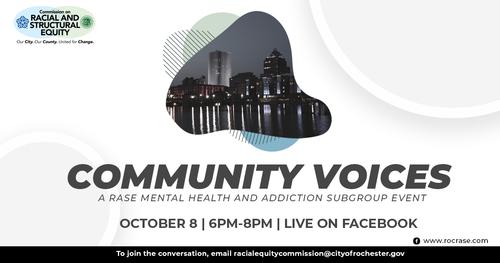 Community Voices Event Graphic